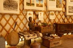 """Détail installation Expo """"Chasseurs de plantes"""" dans yourte"""