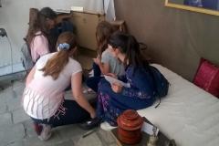 Escape game Alexandra David-Néel : participation d'un groupe de jeunes filles de 10-11 ans : A la suite du jeu (qu'elles trouveront trop court !), elles ramèneront d'autres copines...