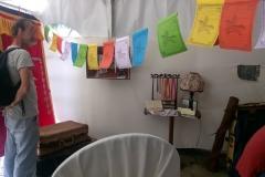 Expo Alexandra David-Néel : Des drapeaux de prière sèment au vent des paroles d'Alexandra David-Néel...