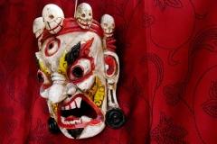 masque tibétain original en bois