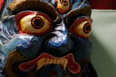 Masque tibétain original en carton-pâte