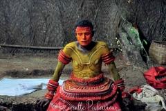 Préparation Theyyam ©Henriette Palavioux