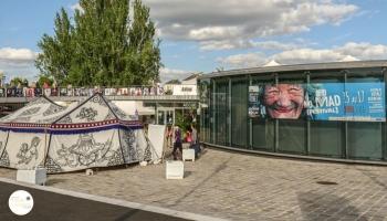 Tente tibétaine, installée au NoMad Festival de Cergy Pontoise